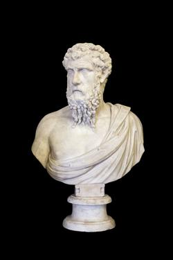 Portrait of Plato (marble) by Roman