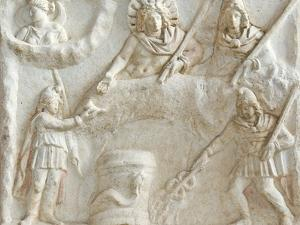Roman Relief of Mithras, Selene, Cautes and Cautopates