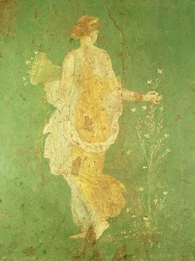 Spring, Maiden Gathering Flowers, from the Villa of Varano in Stabiae, c.15 BC-60 Ad by Roman
