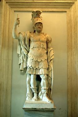 Roman Statue, Temple of Mars Ultor, Rome by A Lorenzini