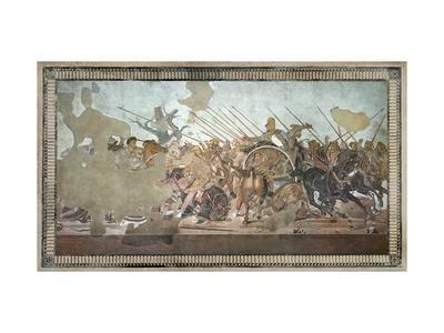 The Alexander Mosaic, Depicting the Battle of Issus Between Alexander the Great