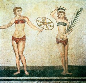 Women in Bikinis, from the Room of the Ten Dancing Girls by Roman