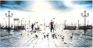 Romance, San Marco, Venice, Door Poster Art Print