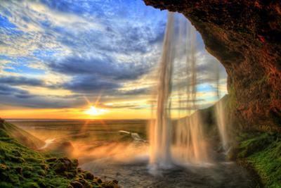 Seljalandfoss Waterfall at Sunset in Hdr, Iceland by romanslavik com