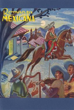 Romanza Mexicana Poster, Village Scene at Night
