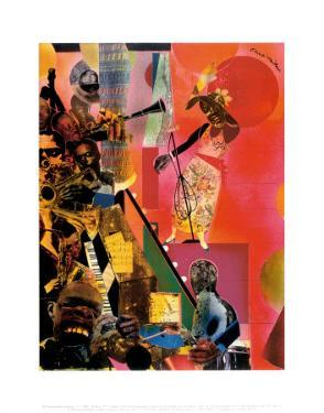 The Blues by Romare Bearden