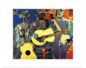 Three Folk Musicians, 1967 by Romare Bearden