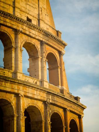 Rome, Italy. Exterior of the Colosseum.