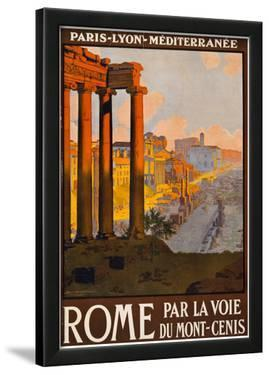 Rome Italy Tourism Travel Vintage Ad Poster Print
