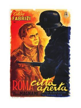 Rome, Open City, (AKA Open City, AKA Roma Citta Aperta), Italian Poster Art, 1946