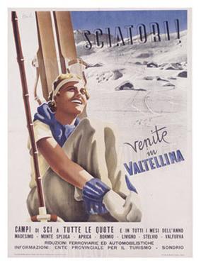 Valtellina, Sciatori by Romola