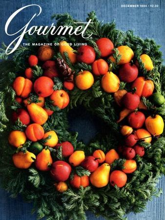 Gourmet Cover - December 1984 by Romulo Yanes