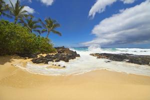 Makena Cove, also known as Secret Beach and Wedding Beach, Maui, Hawaii by Ron Dahlquist