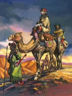 Marco Polo Crosses the Persian Deserts, from 'The Travels of Marco Polo', 1964 by Ron Embleton