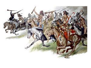 Native American Indians on Horseback by Ron Embleton