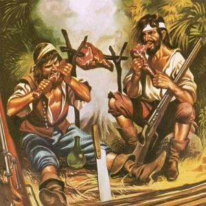 Pirates Eating Meat by Ron Embleton