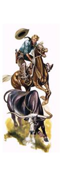 Texan Cowboy at Work by Ron Embleton