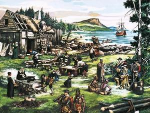 The American Settlers by Ron Embleton