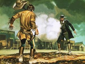 Wyatt Earp at Work in Dodge City by Ron Embleton