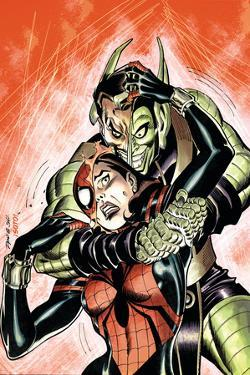 Amazing Spider-Girl No.29 Cover: Spider-Girl and Green Goblin by Ron Frenz