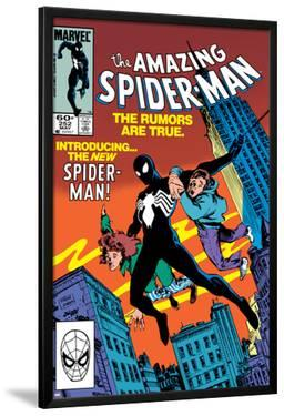 Amazing Spider-Man No.252 Cover: Spider-Man Swinging by Ron Frenz