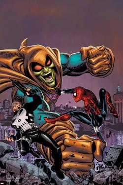 Spectacular Spider-Girl No.4: Punisher, Spider-Girl, and Hobgoblin Fighting and Smashing by Ron Frenz
