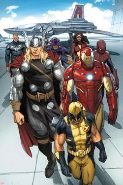 Daken: Dark Wolverine No.9.1: Wolverine, Thor, Iron Man, Spider-Man and Others by Ron Garney