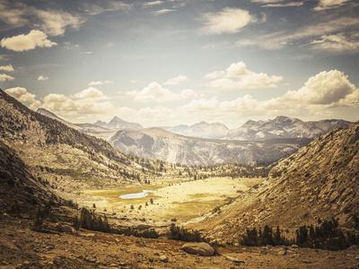 Scenic View Of A Glaciated Alpine Valley Along The John Muir Trail In The Sierra Nevada