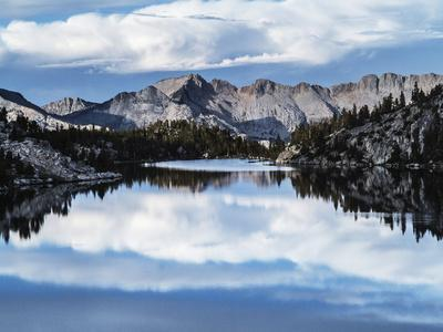 Scenic View Of Alpine Lake Along The John Muir Trail In The Sierra Nevada