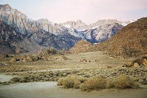 Scenic View Of Mount Whitney From The Alabama Hill In The Morning Light by Ron Koeberer