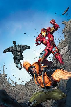 Iron Man: The Coming of the Melter #1 Cover Featuring Iron Man, War Machine, Melter by Ron Lim