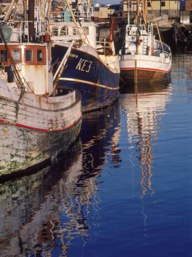Fishing Boats in Harbor, Keflavik, Iceland by Ron Rocz
