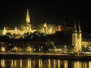 View of Budapest, Hungary at Night by Ron Rocz