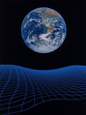 Earth Floating Above a Grid by Ron Russell