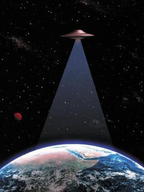 UFO Above the Earth by Ron Russell