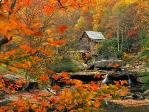 Glade Creek Grist Mill by Ron Watts