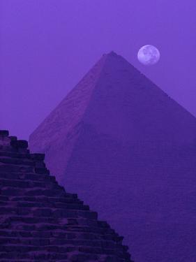 Moon and Pyramid of Khafre by Ron Watts