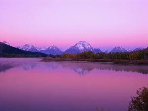 Mount Moran Rises Above Snake River by Ron Watts