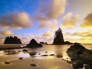Sea Stacks Off Second Beach by Ron Watts