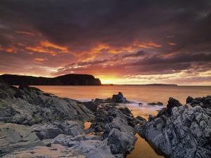 Sunset, Town of Trinity, Bonavista Peninsula, NewFoundLand and Labrador, Canada. by Ron Watts