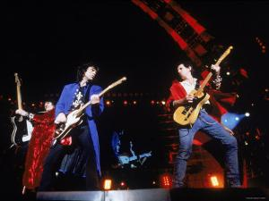 Ron Wood, Mick Jagger and Keith Richards During a Performance by the Rolling Stones