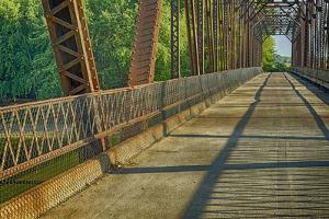 Davis Ferry Bridge over the Wabash River, Tippecanoe Township, Indiana by Rona Schwarz