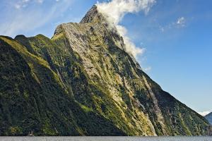 New Zealand, South Island, Fiordland National Park, Milford Sound, Mitre Peak by Rona Schwarz