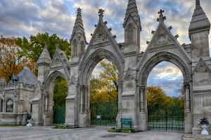 USA, Indianapolis, Indiana. the Entrance Gate to Crown Hill Cemetery by Rona Schwarz