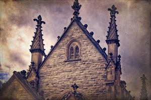 USA, Indianapolis, Indiana. the Gothic Chapel at Crown Hill Cemetery by Rona Schwarz