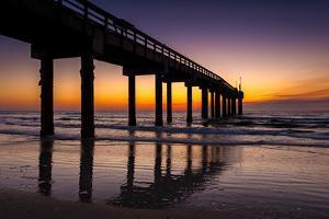 USA, St. Augustine, St. John's Pier at Sunrise by Rona Schwarz