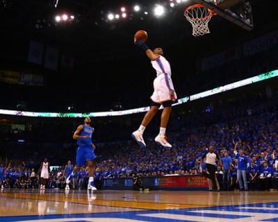 Dallas Mavericks v Oklahoma City Thunder - Game Four, Oklahoma City, OK - MAY 23: Russell Westbrook by Ronald Martinez