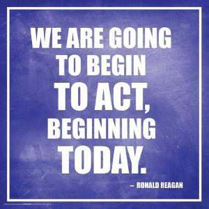 Ronald Reagan- Beginning Today
