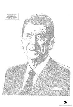 Ronald Reagan Berlin Speech Text Poster
