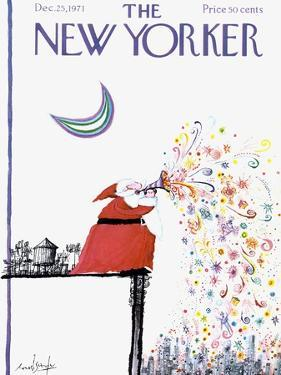 The New Yorker Cover - December 25, 1971 by Ronald Searle